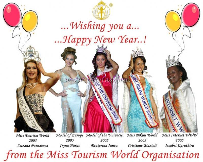 Happy New Year 2006 from Miss Tourism World Organisation England