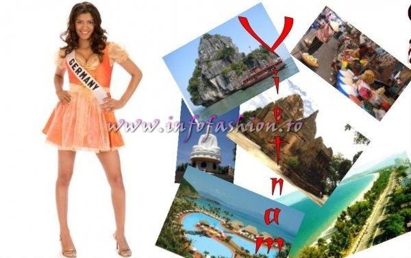 GERMANY- Madina Taher at Miss Universe 2008 in Vietnam