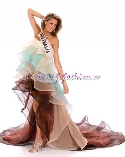 AUSTRALIA_Laura Dundovic in TOP 10 at Miss Universe 2008 in Vietnam