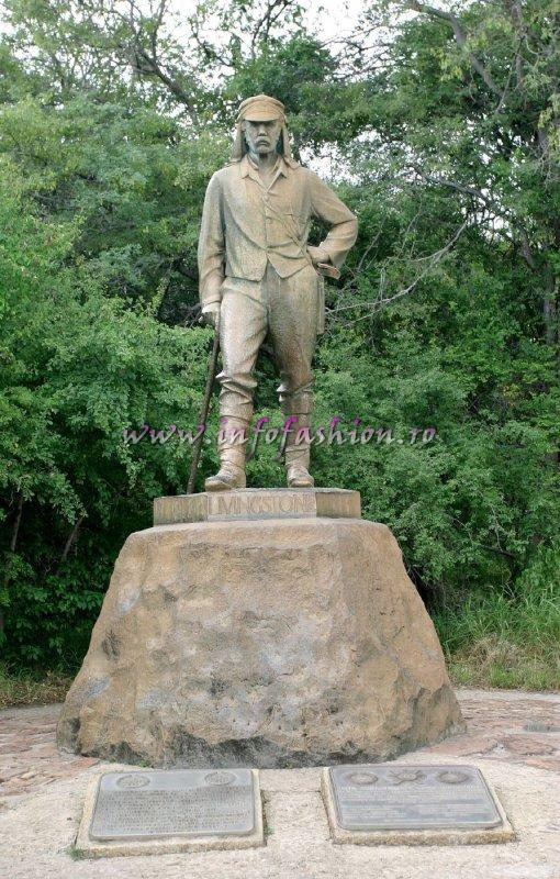 Statue of David Livingstone on the Zambian side of Victoria Falls