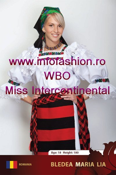 Romania Maria-Lia Bledea la Miss Intercontinental 2009 in Belarus