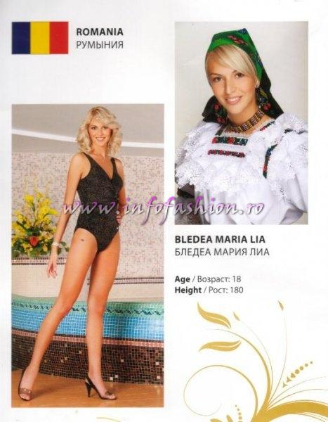 Maria_Lia_Bledea la Miss Intercontinental in Belarus /Infofashion Platinum Ag 2009
