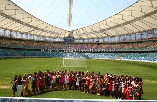 20MW ACTUAL NEWS Miss World Contestants visited Durban, Moses Mabida stadium and Insenda Secondary School 2009