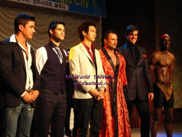 Mr. World Talent Show Top 6- South Africa, Belgium, S.Korea, Russia, Venezuela, Kenya