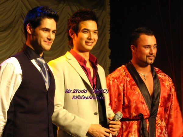 Mr. World Talent Show Top 3 Belgium, Korea, Russia