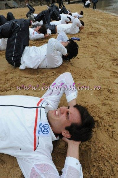 Mister World Beach challenge test by resident Sergeant Major in S. Korea 2010