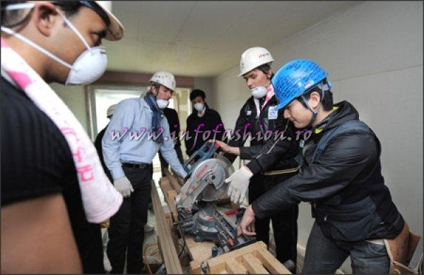 Mr. World Contestants works with Habitat for Humanity