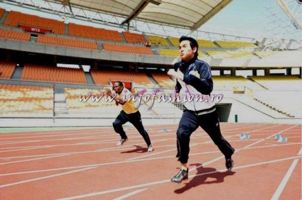 Mr World relay challenge at Daegu Stadium