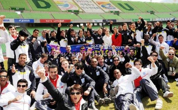 Mr World Contestants at Daegu Stadium