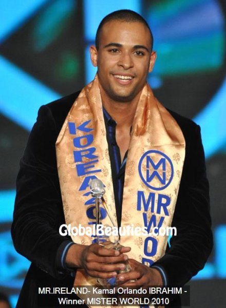 Ireland_2010 Kamal Orlando IBRAHIM- WINNER- NEW Mister World in Korea