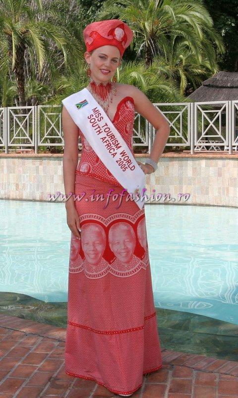 South Africa at Miss Tourism World 2005 in Zimbabwe (Photo: Frank Thompson)