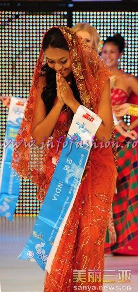 India_2010 Nupura Bade, Best Talent Awards Winner at 35th Miss Bikini International In Sanya