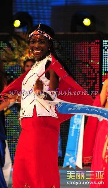 Kenya_2010 Diana Nekoye Sifuna, 1st ru Best Figure and 2nd Summer Lady at 35th Miss Bikini International In Sanya