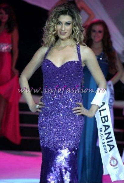 Albania- Ertemiona Mejdani at Miss Globe International