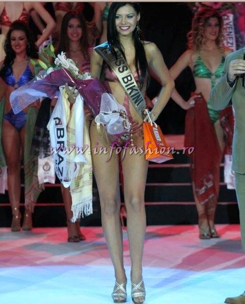 Brazil_2009 Amanda Bocchi, Miss Bikini of The World at Miss Globe International in Albania