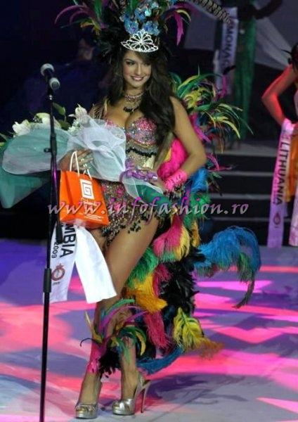 Colombia_2009 Kimberly Reyes Hernandez, Best National Costume at Miss Globe International in Albania