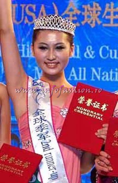China PR- Chen Ya Feng, 2nd Runner up at Miss All Nation 2010 in China, Nanjing