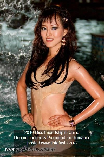 Indonesia- Hannie Cyntia Dewi Tan 2010 Miss Friendship in China