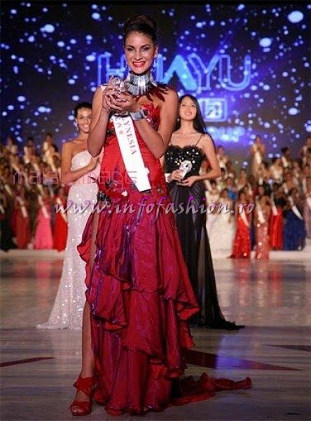 Tahiti French Polynesia- Mihilani TEIXEIRA, Best Evening Gown Award at Miss World 2010, 60th edition in China, Sanya