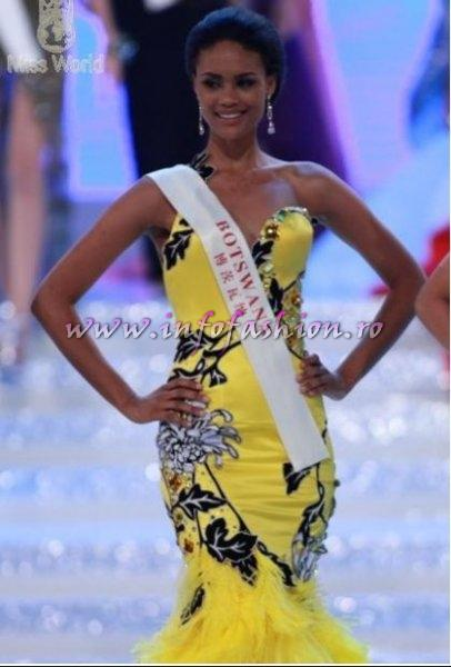 Botswana- Emma Wareus, 2nd place, Queen of Africa at Miss World 2010, 60th edition in China, Sanya