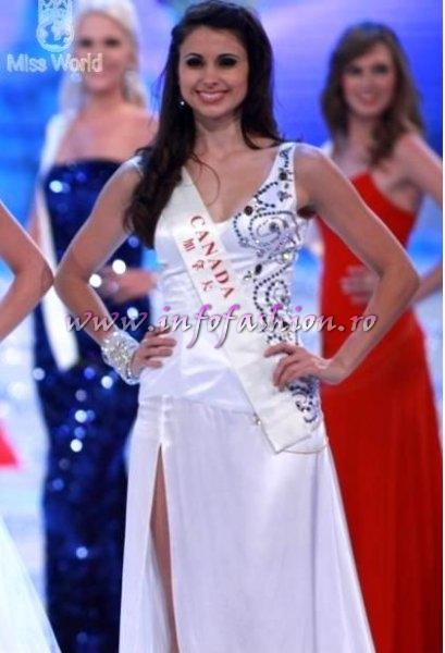 TOP 25 Canada- Denise Garrido at Miss World 2010, 60th edition in China, Sanya