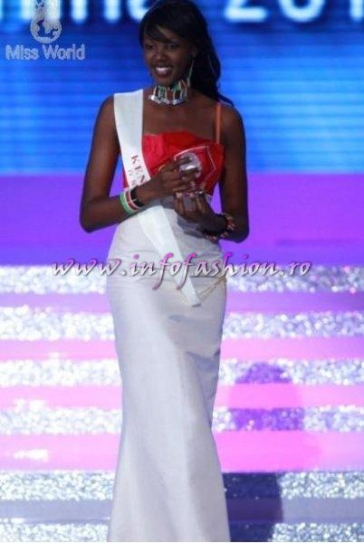 Kenya_2010 Natasha METTO is Winner of the `Beauty with a Purpose`, fast tracks to 25 TOP FINAL at Miss World 60th edition in China, Sanya