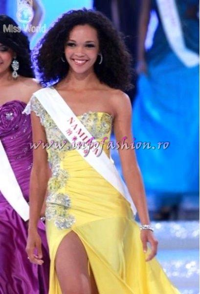 TOP 25 Namibia- Odile Madeline GERTZE at Miss World 2010, 60th edition in China, Sanya
