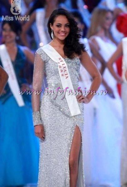 Saint_Lucia_2010 Aiasha Tierra Rebecca Gustave, Queen of Caribbean, TOP 25 at Miss World 60th edition in China, Sanya