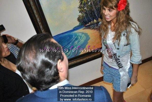 Alina Clapa, Romania MISS INTERCONTINENTAL 2010 - VISIT TO MINISTRY OF TOURISM in DOMINICAN REP.