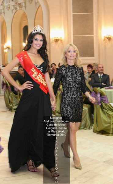 B_&_Andreea_Buzdugan la Finala Miss World Romania 2010 Platinum Ag Infofashion Designeri