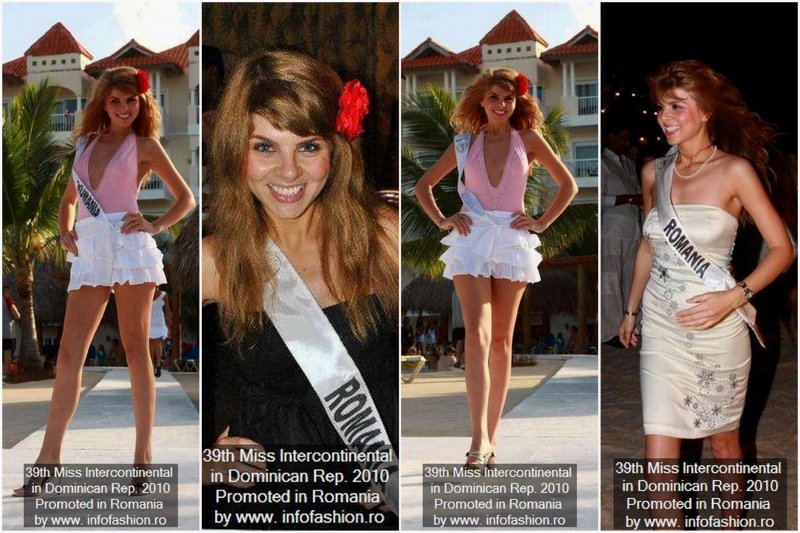 2010 Alina Clapa ROMANIA la Miss Intercontinental 2010 in Punta Cana /Infofashion Romania