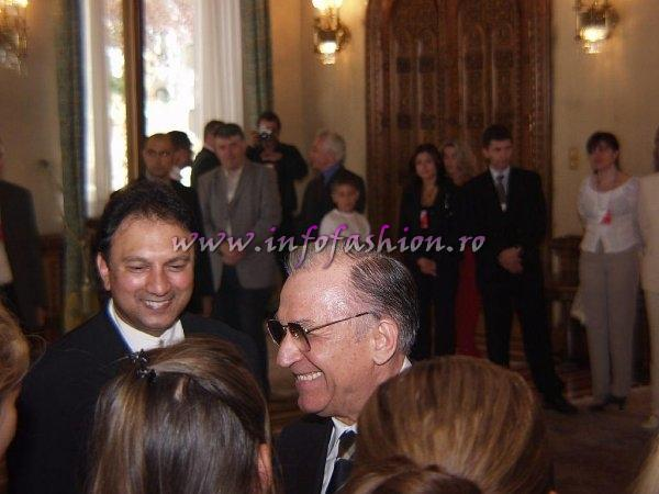 Platinum 2003 Ag Infofashion Official Visit at Romania Presidency (Palatul Cotroceni), Ion Iliescu meeting with Miss Tourism Europe Contestants