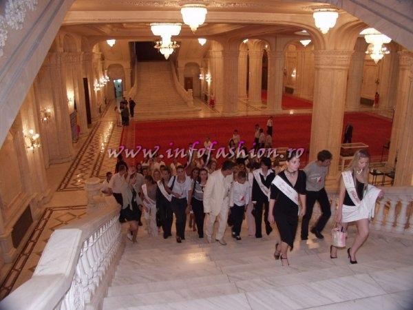 Platinum 2003 Ag Infofashion Visit at Romania Parliament Palace (Casa Poporului) with Miss Tourism Europe Contestants