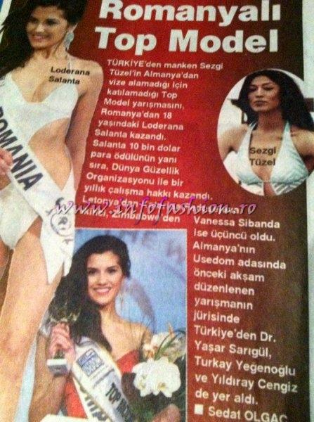 Press Romania, Loredana Salanta, Miss World Romania 2009, castigatoarea Top Model of the World Germany 16.03.2011 prin Infofashion Platinum Ag