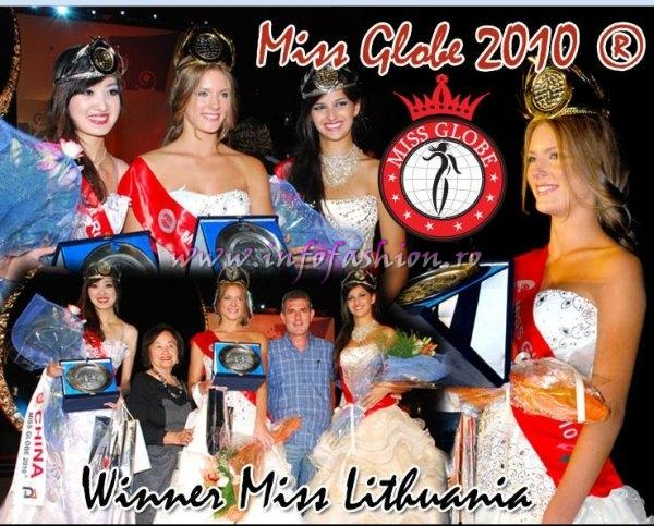 Miss Globe 2010- Winner Miss Lithuania, Laura Urbonaite, 1st ru Shu Wan Li- China, 2nd ru Hristina Micevska- Macedonia