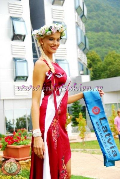 Latvia_2010 Krista Pesecka at Miss Globe in Albania