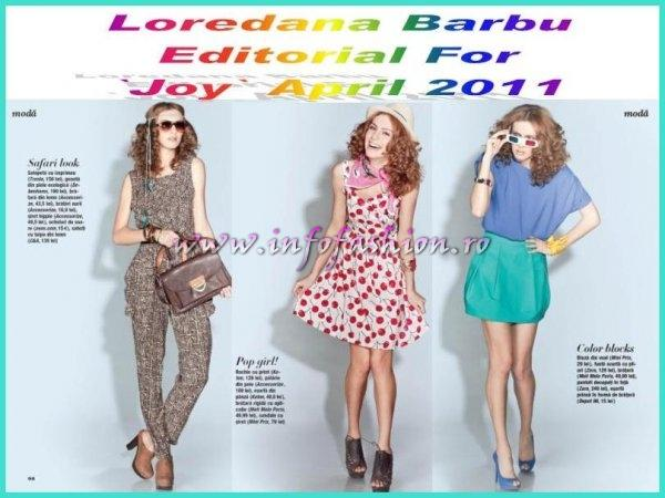 Loredana Barbu Editorial For Joy April 2011