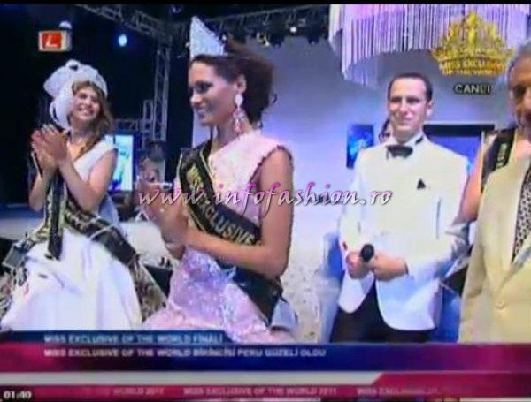 Claudia Carrasco from Peru is the WINNER of Miss Exclusive of the World in Turkey 2011