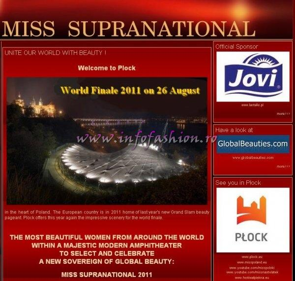 MISS SUPRANATIONAL IS NOW A GRAND SLAM PAGEANT- had been announced on 7 November 2010 by GlobalBeauties.