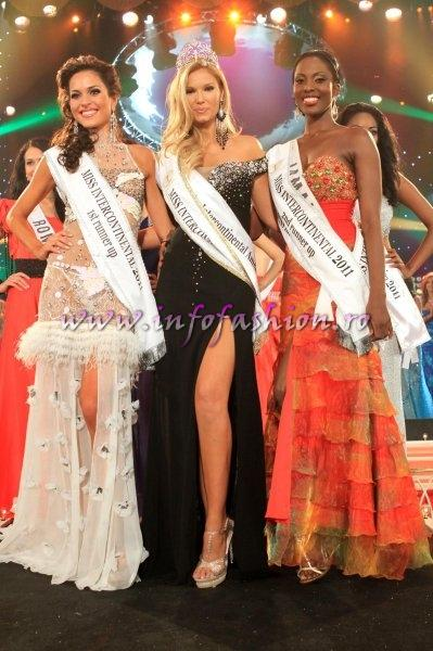 Miss Intercontinental In Espana /Winner USA- Jessica Hartman, 1st Ry Spain - Gloria Martinez, 2nd Ru Jamaica- Chavoy Gordon at `Teatro Circo` in Orihuela / Alicante and brodcasted by Mediapro Group from Madrid