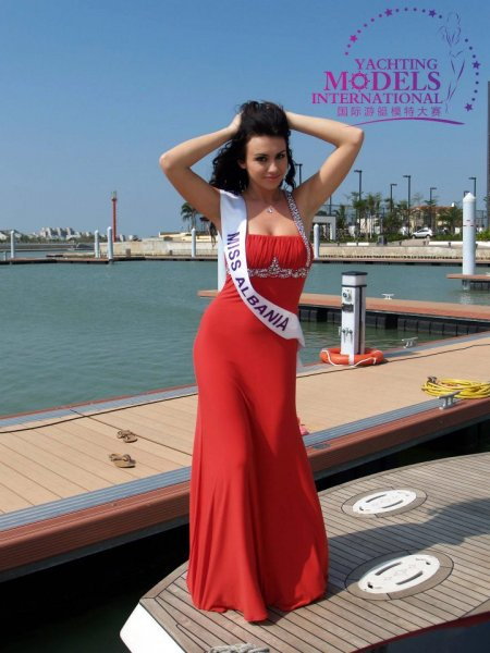 Albania_2011 Silvi Adhami at Miss Yacht Model International in China