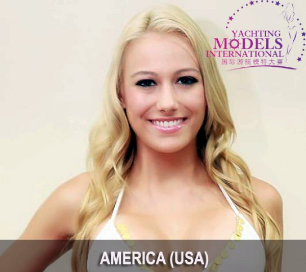 USA_2011 United States of America Misty Rose at Miss Yacht Model International in China
