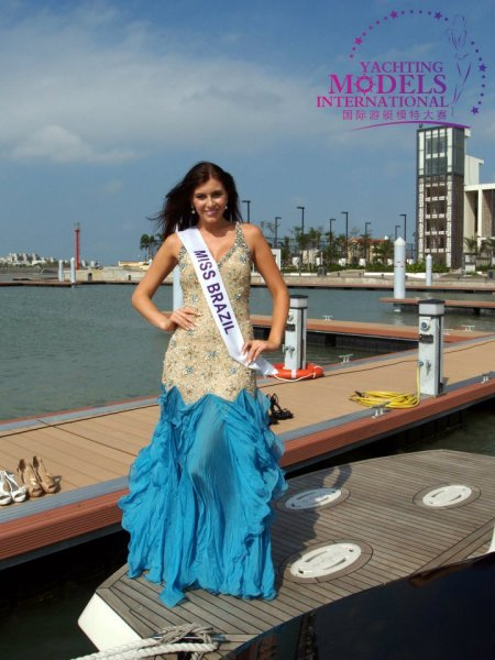 Brasil_2011 Kellin Schmidt at Miss Yacht Model International in China