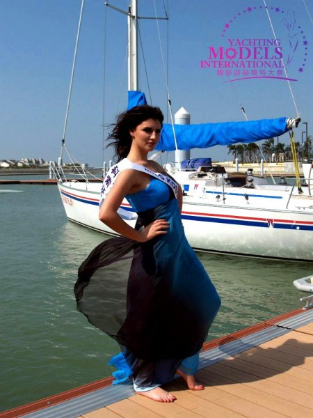 Kosovo_2011 Sidrita Sadikaj at Miss Yacht Model International in China