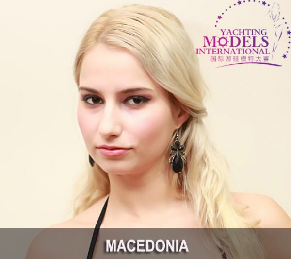 Macedonia_FYRO_2011 Nadica Chaushevska- Miss Photogenic at Miss Yacht Model International in China