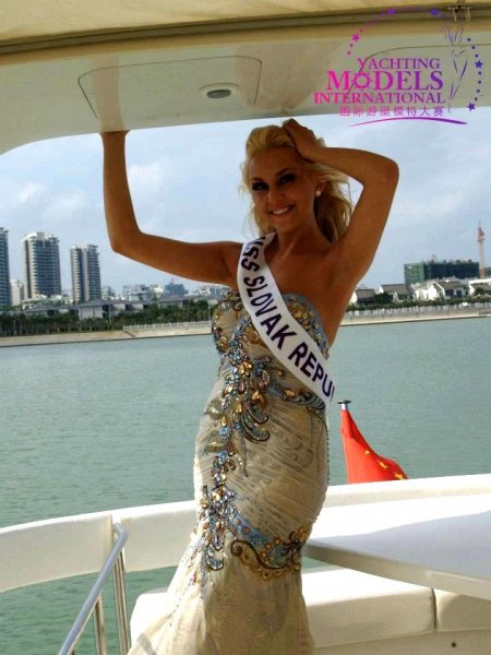 Slovakia_2011 Barbara Klapacova at Miss Yacht Model International in China