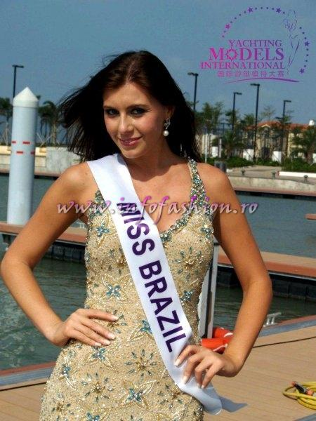 Brazil Kellin Schmidt, 1st runner up at Miss Yacht Model International 2011 in China