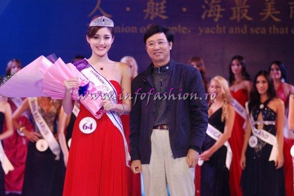China Zhang Tian Yu, 2nd ru at Miss Yacht Model International in China 2011