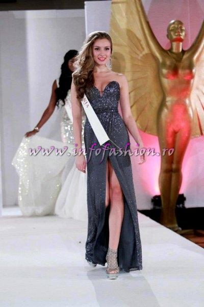 Stanescu_Alexandra 2011 Romania la Miss World, editia 61 in UK, Scotland, London, tinute oferite de Natalia Vasiliev, costum national Eva Neagoe