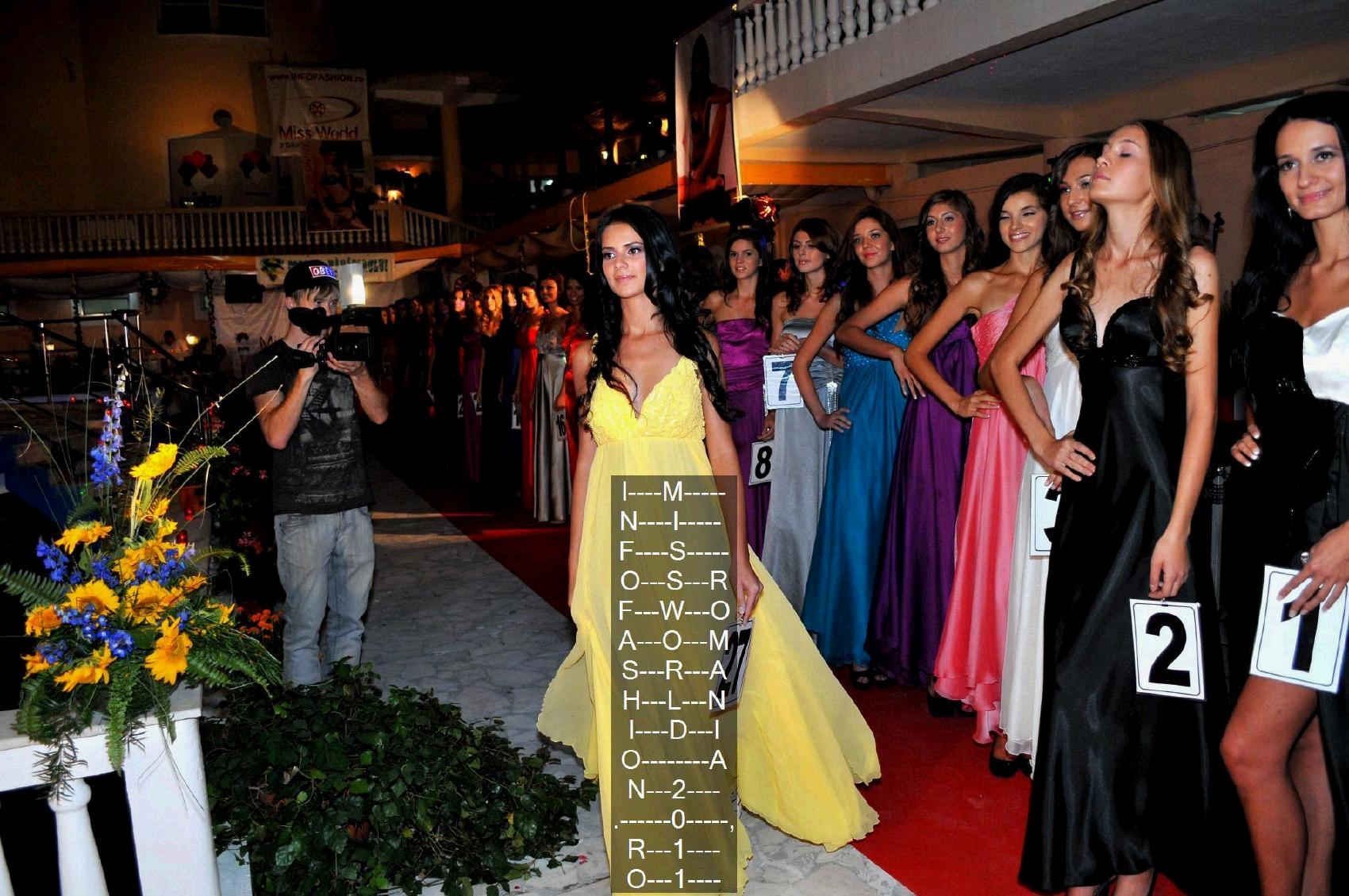 Casa Moda Grizley Montana (Marinangeli Nazzareno) la Miss World Romania